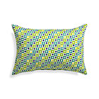 Graphic Geo Tiles Bottle Green Outdoor Pillow.