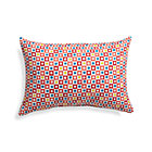 Graphic Geo Tiles Paprika Outdoor Pillow.
