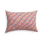 Graphic Geo Tiles Paprika Outdoor Pillow.
