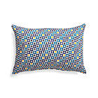 Graphic Geo Tiles Turkish Tile Outdoor Pillow.