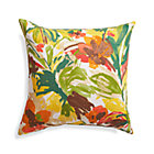 "Handpainted Floral 20"" Sq. Outdoor Pillow."