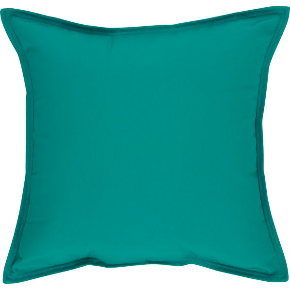 "Sunbrella® Harbor Blue 22"" Sq. Outdoor Pillow"