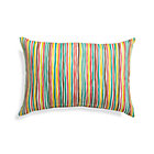 Handpainted Stripe Outdoor Pillow.