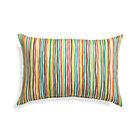 Handpainted Stripe Outdoor Pillow.