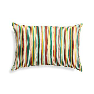 "Handpainted Stripe 20""x13"" Outdoor Pillow"
