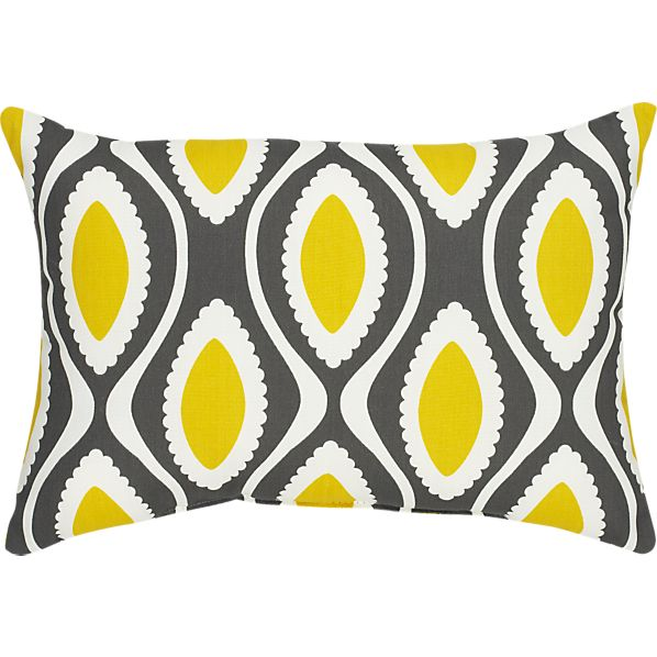 "La Mer Dark 20""x13"" Outdoor Pillow"