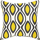La Mer White Outdoor Pillow.
