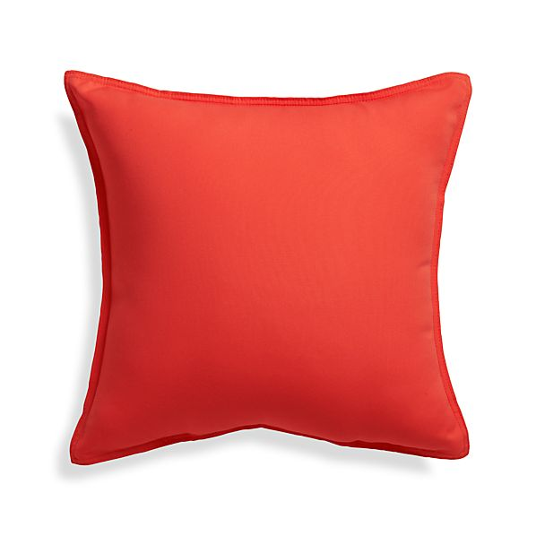 "Sunbrella® Paprika 20"" Sq. Outdoor Pillow"