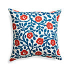"Poppy Scroll 20"" Sq. Outdoor Pillow."