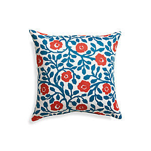 "Poppy Scroll 20"" Sq. Outdoor Pillow"