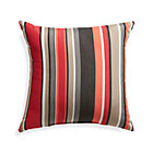"Sunbrella® Red Multi Stripe 20"" Sq. Outdoor Pillow."