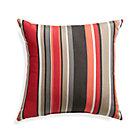 """Sunbrella® Red Multi Stripe 20"""" Sq. Outdoor Pillow."""