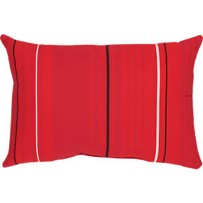 Sunbrella® Red Tonal Stripe 20x13 Outdoor Pillow