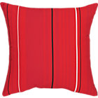 Sunbrella® Red Tonal Stripe Outdoor Pillow.