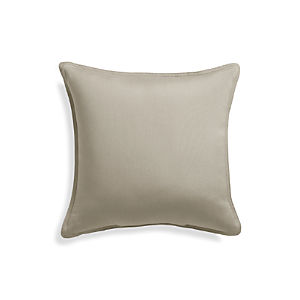 "Sunbrella® Stone 20"" Sq. Outdoor Pillow"