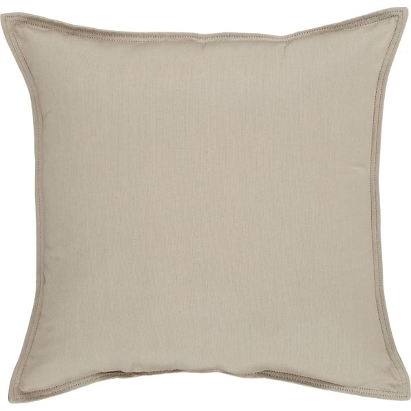 "Sunbrella® Stone 22"" Sq. Outdoor Pillow"