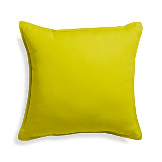 "Sunbrella® Sulfur 20"" Sq. Outdoor Pillow"