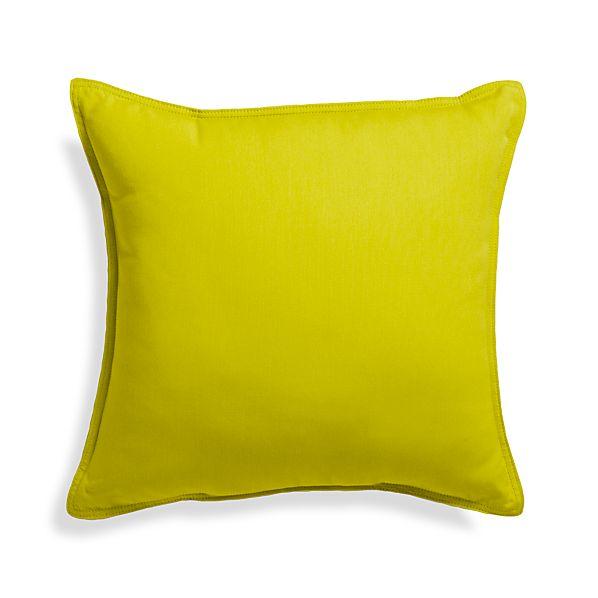 "Sunbrella® Sulfur 20"" Sq. Outdoor Pillow"
