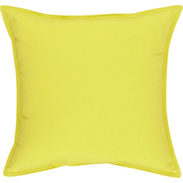"Sunbrella® Sulfur 22"" Sq. Outdoor Pillow"