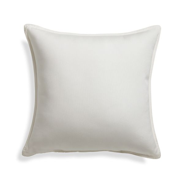 "Sunbrella® White Sand 20"" Sq. Outdoor Pillow"