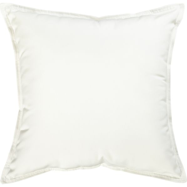 "Sunbrella® White Sand 22"" Sq. Outdoor Pillow"