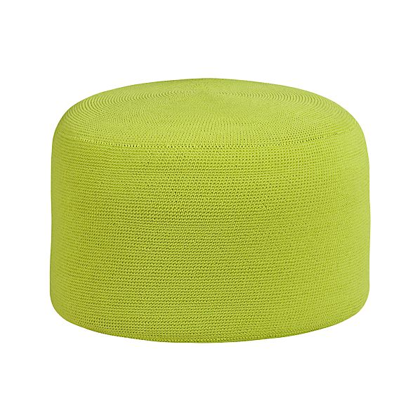 Crocheted Apple Outdoor Pouf