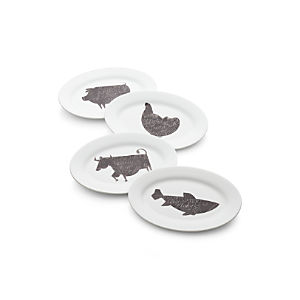 Oval Barbeque Plates