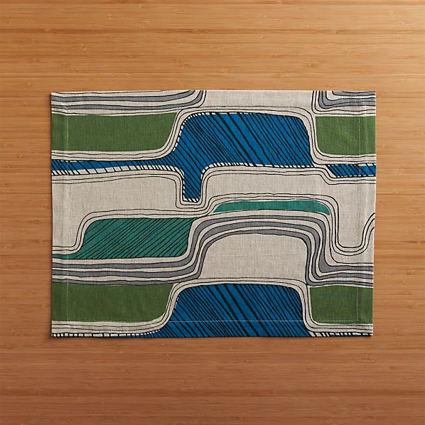 Oxbow Blue Placemat