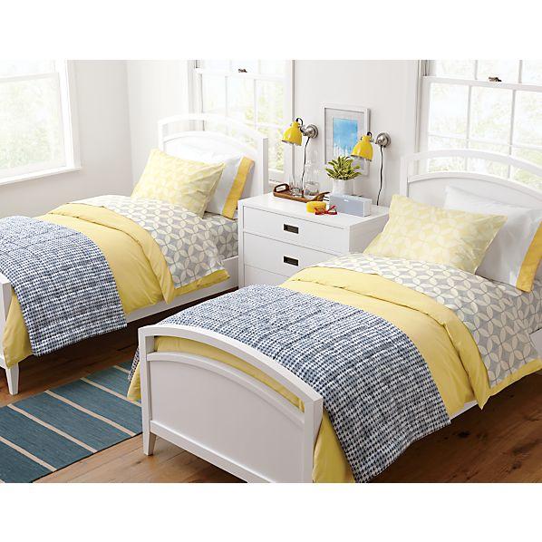 Bold Blue Striped Wool-Blend 2.5'x7' Rug Runner