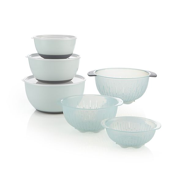 9 Piece Oxo 174 Nesting Bowls And Colanders And Lids Set