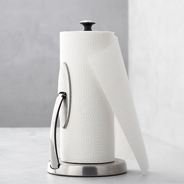 OXO ® Spring Arm Paper Towel Holder | Crate and Barrel