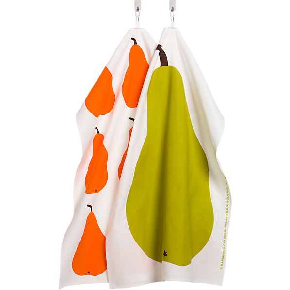 Set of 2 Marimekko Paaryna Dishtowels