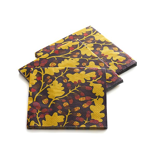 "Marimekko Pähkinäpuu Brown and Orange Paper 6.5"" Napkins Set of 20"