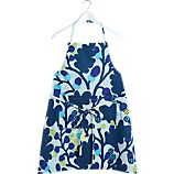 Marimekko Pähkinäpuu Blue and Yellow Apron