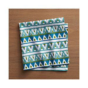 Palace Blue Trim Napkin