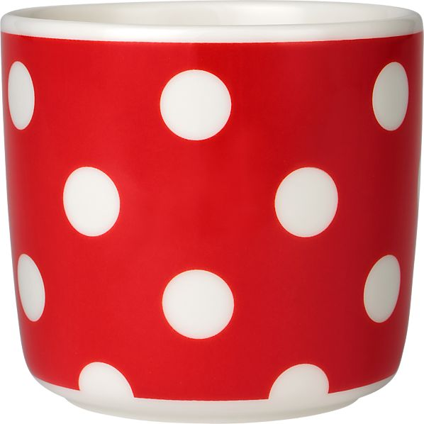 Marimekko Pallo Red and White Cup