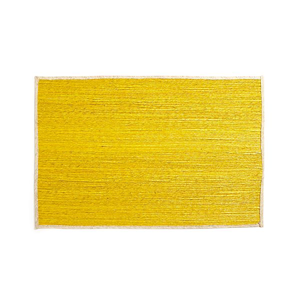 Palm Yellow 2'x3' Rug