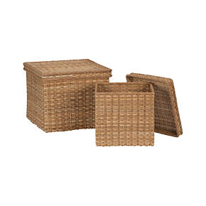 Palma Square Lidded Baskets