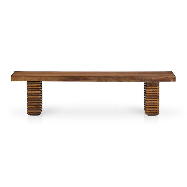 Paloma ii reclaimed wood bench in paloma ii dining tables for Wood crate bench