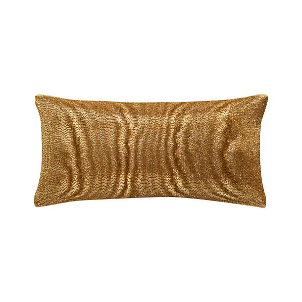 "Panache Gold 16""x8"" Pillow"