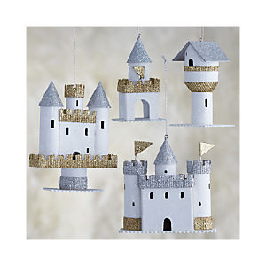 Paper Castle Ornaments Set of Four