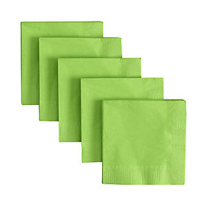 Lime Cocktail Napkins Set of 50