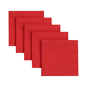Red Paper Cocktail Napkins Set of 50