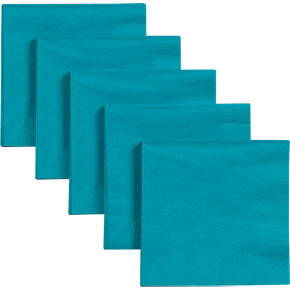 Teal Cocktail Napkins Set of 50