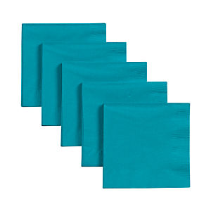 Set of 50 Teal Cocktail Napkins