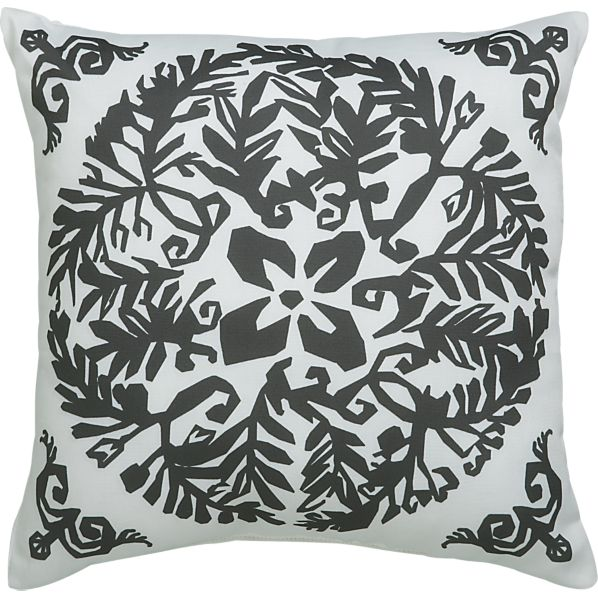"Paper Cutout 20"" Outdoor Pillow"