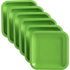 "Set of 18 lime deep paper plates. 6.875""sq.x.678""H"