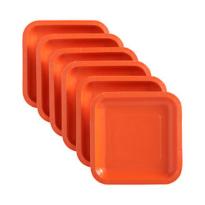 Set of 18 Orange Deep Paper Plates
