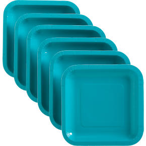Set of 18 Teal Deep Paper Plates