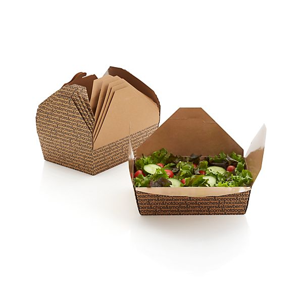 Set of 6 Paper Food Boxes
